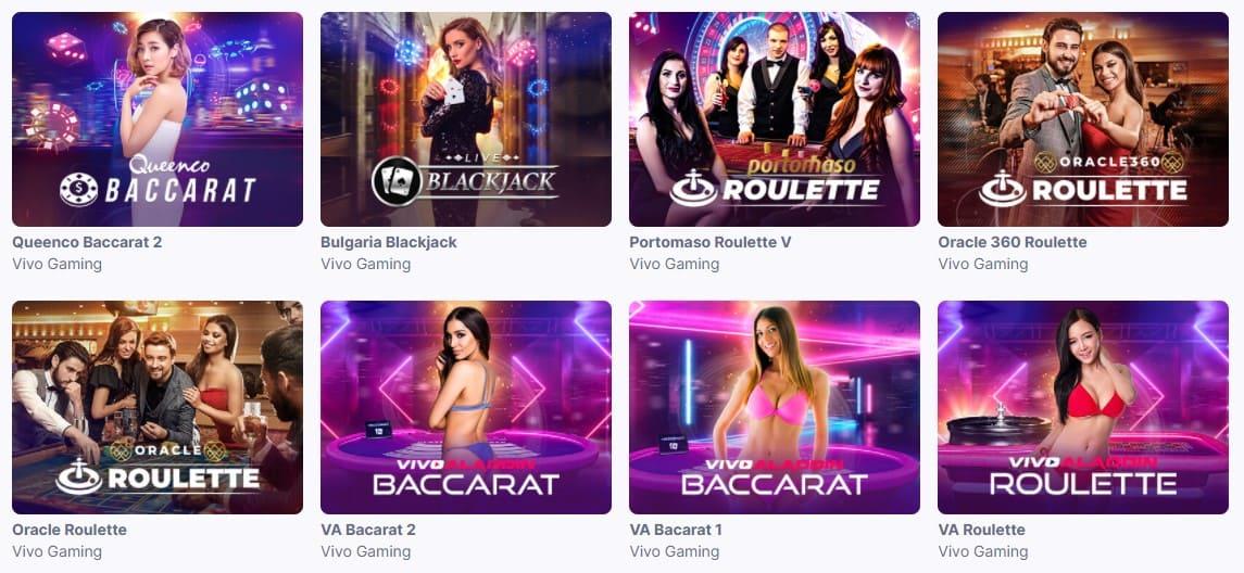 Många spel i casinon utan licens